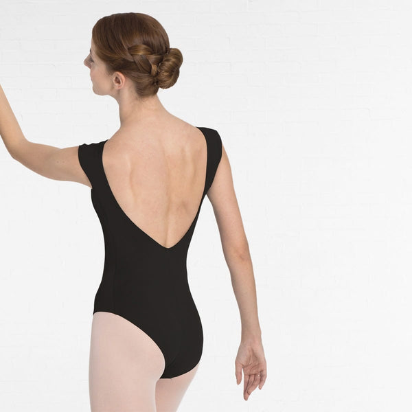 Intermezzo Cap Sleeved Leotard with Low Back and Mesh Detail- Dazzle Dancewear Ltd