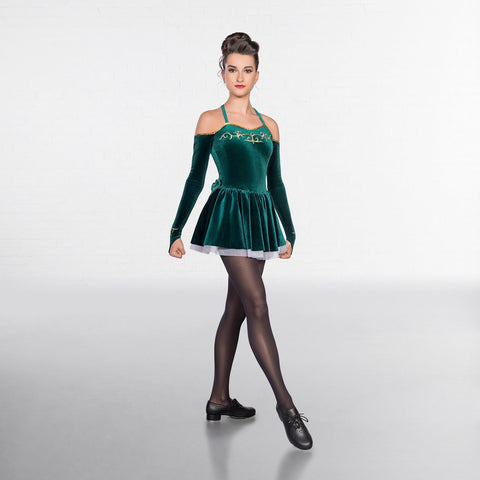 1st Position Embroidered Irish Dress-Dazzle Dancewear Ltd