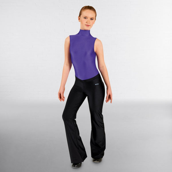 ISTD Black Tap Dance V Front Nylon Jazz Pants