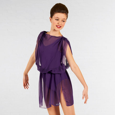 ISTD Purple Greek Tunic - Dazzle Dancewear Ltd