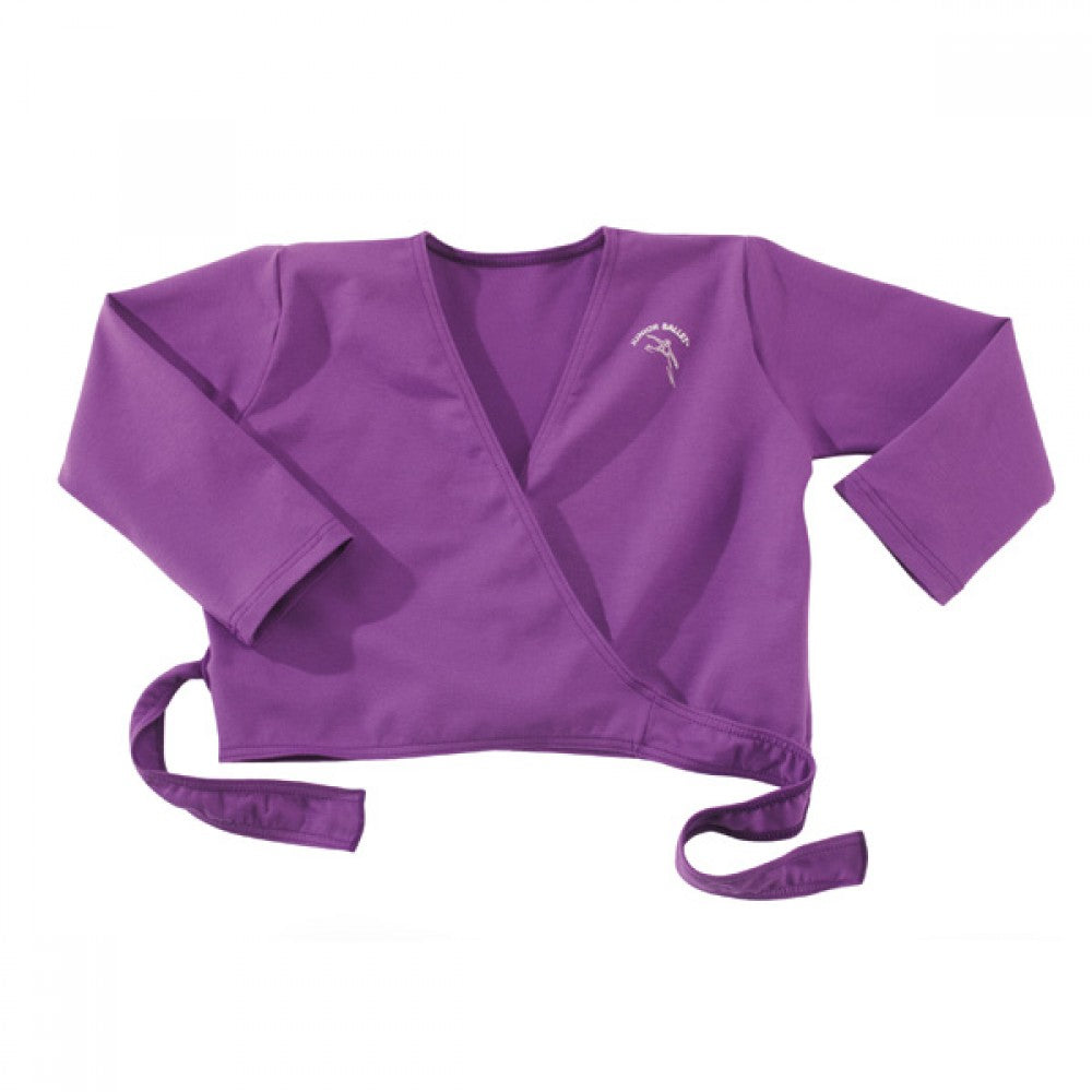 Junior Ballet Purple Wrapover Ballet Dance Cardigan - Dazzle Dancewear Ltd