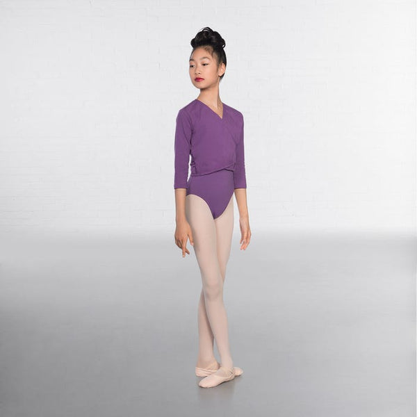 1st Position Lavender X Over Cardigan 3/4 sleeves  - Dazzle Dancewear Ltd