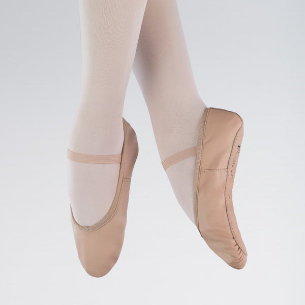 1st Position Pink Leather Ballet Shoes