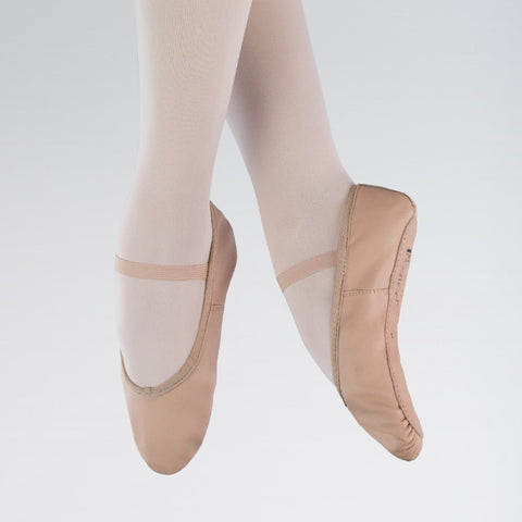 1st Position Pink Leather Ballet Shoes - Dazzle Dancewear Ltd