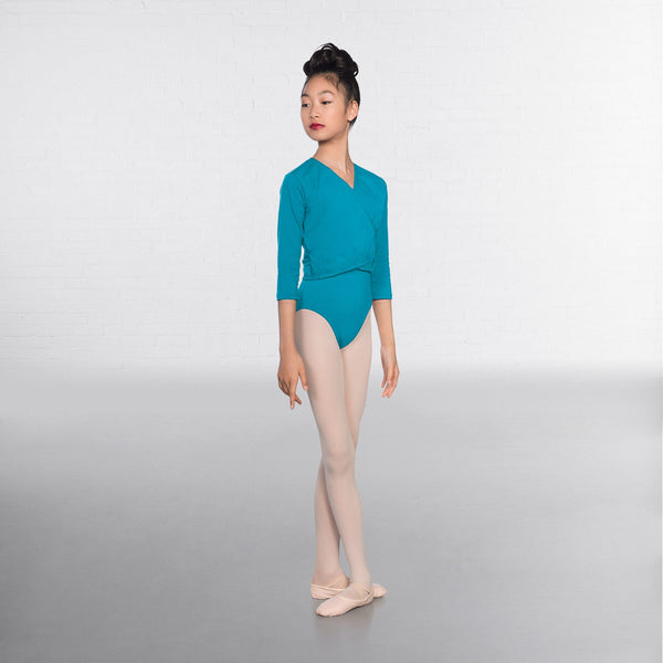 1st Position Marine X Over Cardigan 3/4 sleeves  - Dazzle Dancewear Ltd