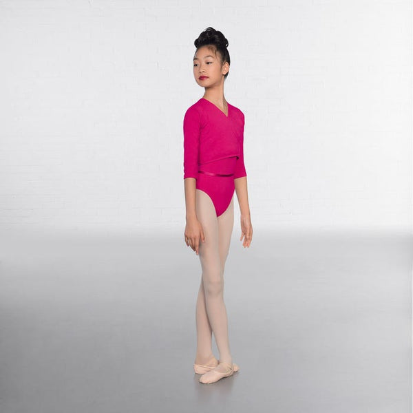 1st Position Mulberry X Over Cardigan 3/4 sleeves  - Dazzle Dancewear Ltd