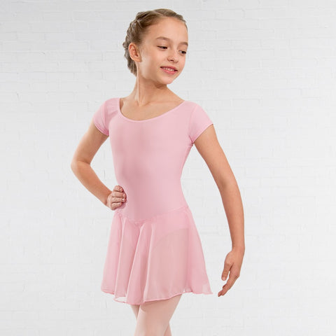 NATD Class Preliminary Grade 1 Voile Skirted Cap Sleeved Leotard