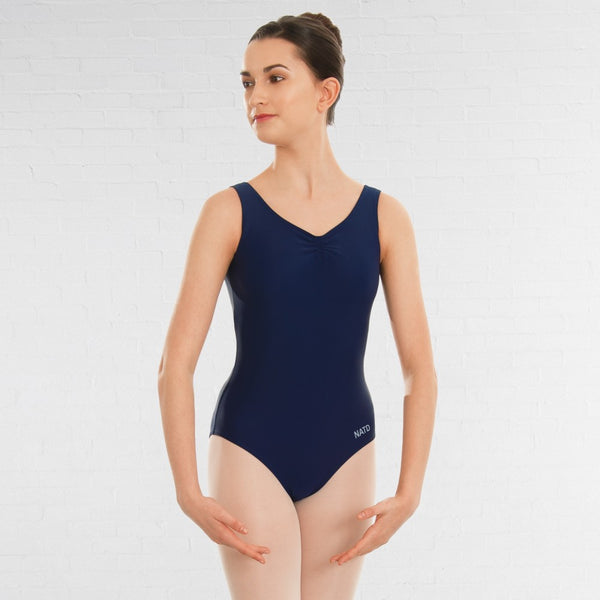 NATD Grades 2/3/4 Sleeveless Ruched Front Lined Ballet Dance Leotard - Dazzle Dancewear Ltd