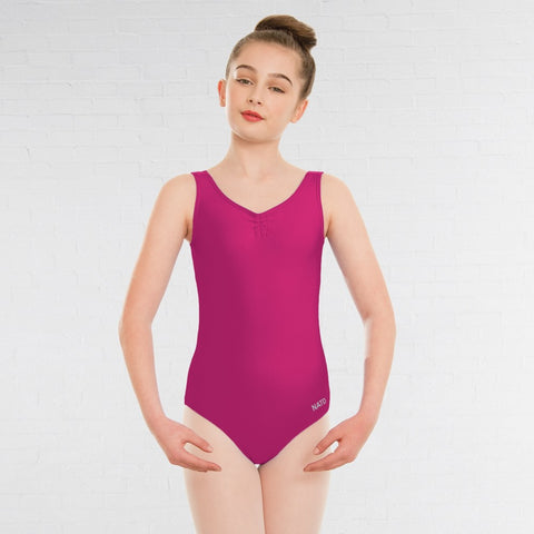 NATD Grades 2/3/4 Sleeveless Ruched Front Lined Ballet Dance Leotard