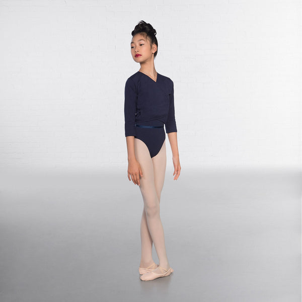 1st Position Navy Blue X Over Cardigan 3/4 sleeves  - Dazzle Dancewear Ltd
