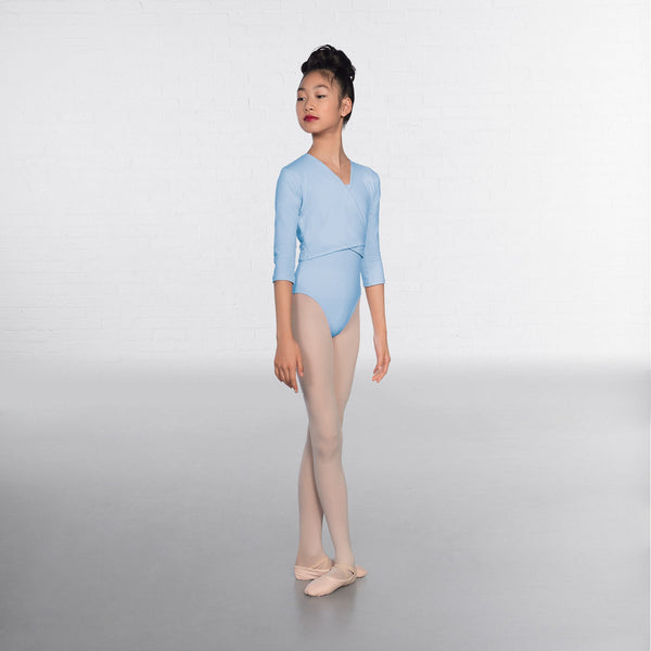 1st Position Pale Blue X Over Cardigan 3/4 sleeves  - Dazzle Dancewear Ltd