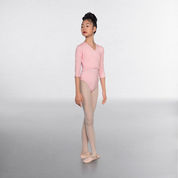 1st Position Pale Pink X Over Cardigan 3/4 sleeves  - Dazzle Dancewear Ltd