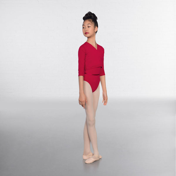 1st Position Plum X Over Cardigan 3/4 sleeves  - Dazzle Dancewear Ltd