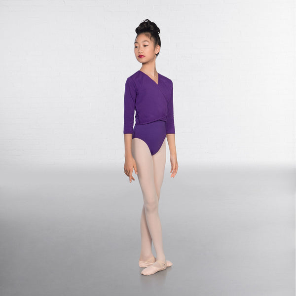 1st Position Purple X Over Cardigan 3/4 sleeves  - Dazzle Dancewear Ltd