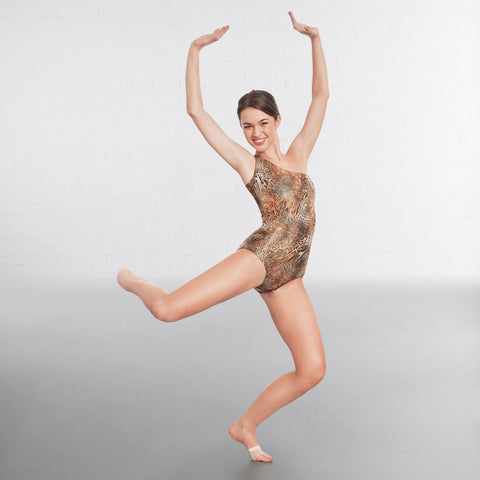 1st Position Animal Leopard Print Dance Leotard - Dazzle Dancewear Ltd