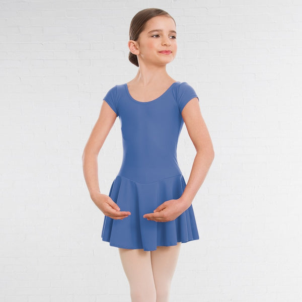 1st Position Matt Nylon Skirted Cap Sleeve Ballet Dance Leotard - Dazzle Dancewear Ltd