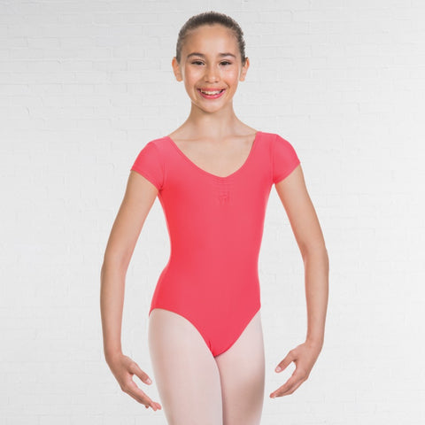 1st Position Cap Sleeved Ruched Leotard