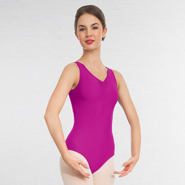 1st Position Ruched Lined Dance Leotard