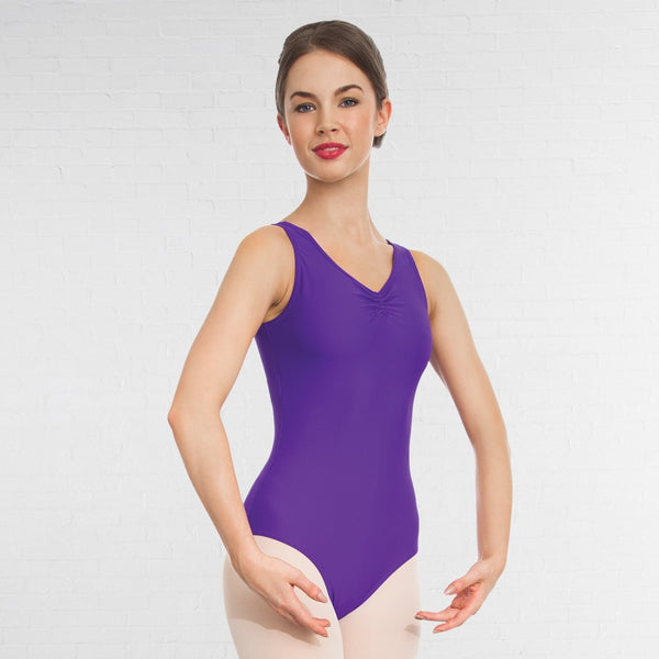 1st Position Ruched Lined Dance Leotard - Dazzle Dancewear Ltd