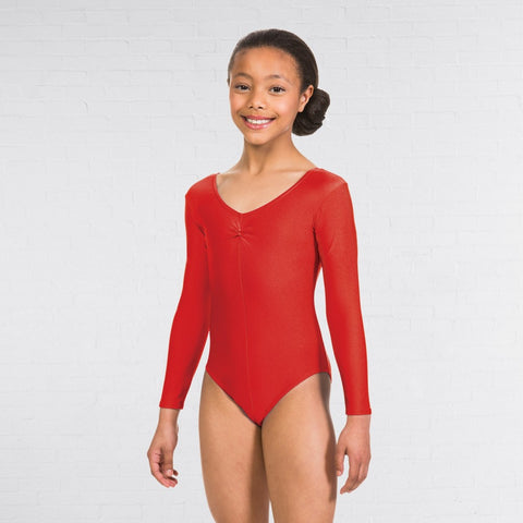 1st Position Ruched Front Long Sleeved Leotard - Dazzle Dancewear Ltd