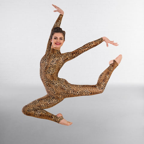 1st Position Keyhole Back Animal Print Catsuit - Dazzle Dancewear Ltd
