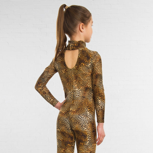 1st Position Keyhole Back Animal Print Catsuit