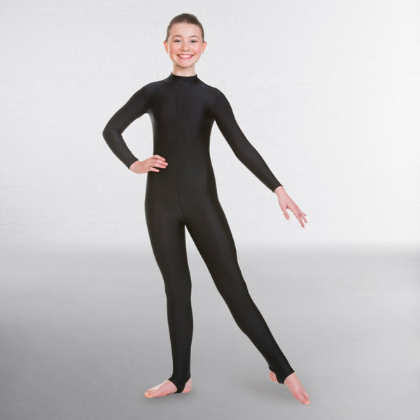1st Position Long Sleeved Keyhole Back Dance Catsuit - Dazzle Dancewear Ltd
