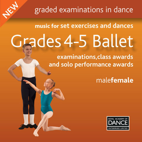 RAD Grades 4-5 Ballet CD - Dazzle Dancewear Ltd