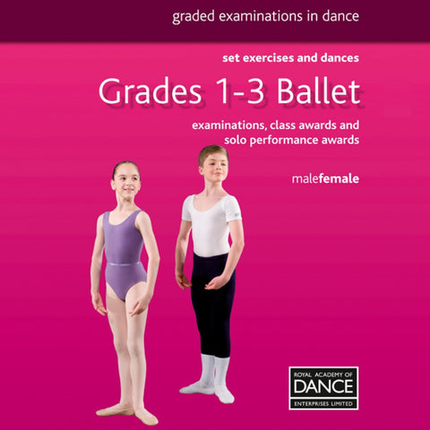 RAD Grades 1-3 Ballet Book - Dazzle Dancewear Ltd
