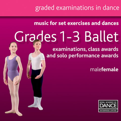 RAD Grades 1-3 Ballet CD - Dazzle Dancewear Ltd