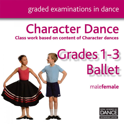 RAD Grades 1-3 Character CD - Dazzle Dancewear Ltd