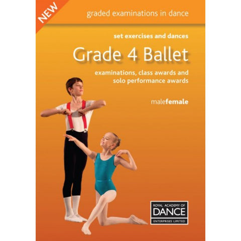 RAD Grade 4 Ballet Set Exercises & Dances Book - Dazzle Dancewear Ltd