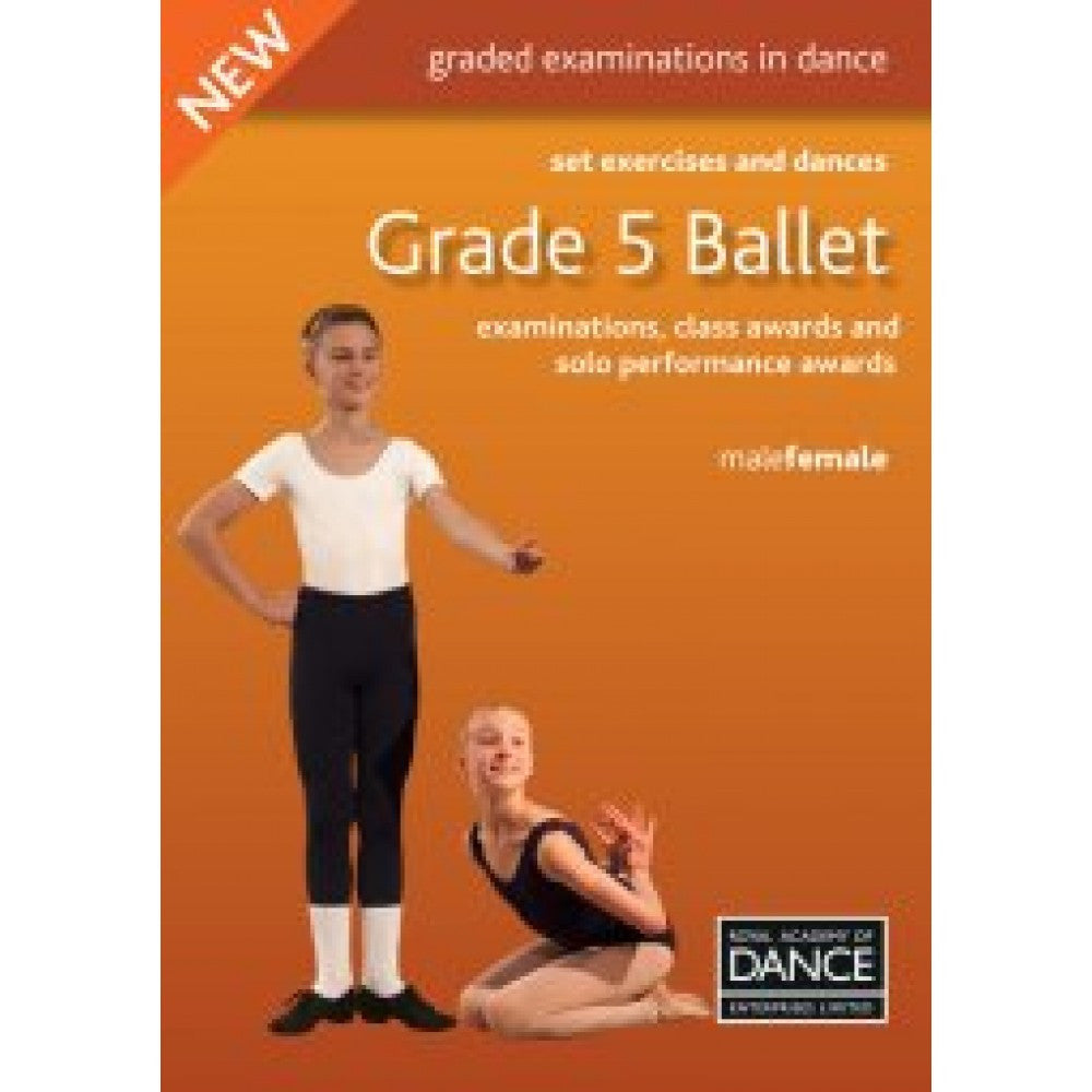RAD Grade 5 Ballet Set Exercises & Dances Book - Dazzle Dancewear Ltd