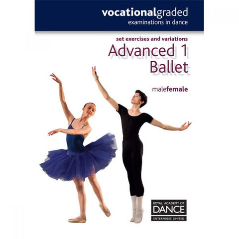 RAD Advanced 1 Male/Female Ballet Word Notes - Dazzle Dancewear Ltd