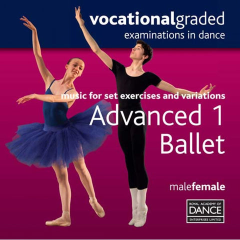 RAD Advanced 1 Male/Female Ballet CD - Dazzle Dancewear Ltd