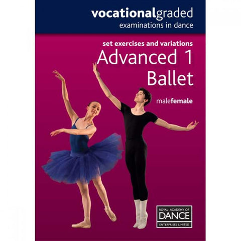 RAD Advanced 1 Male/Female Ballet DVD - Dazzle Dancewear Ltd