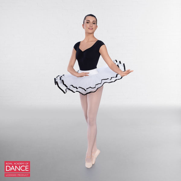 RAD Approved Traditional White Tutu with Ribbon - Dazzle Dancewear Ltd