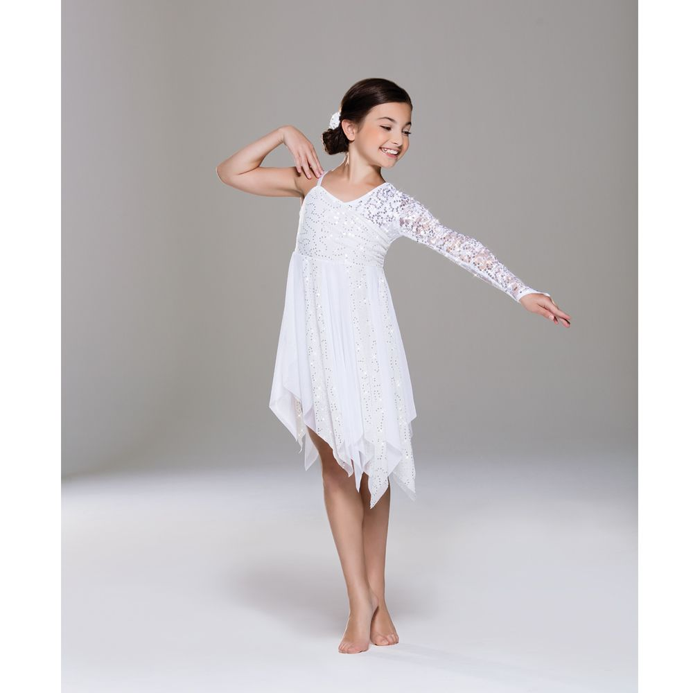 Revolution Snowfall Lyrical Dress - Dazzle Dancewear Ltd