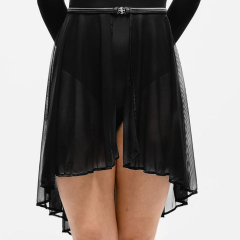 Black Sheer Mesh Lyrical Skirt | Dazzle Dancewear Ltd