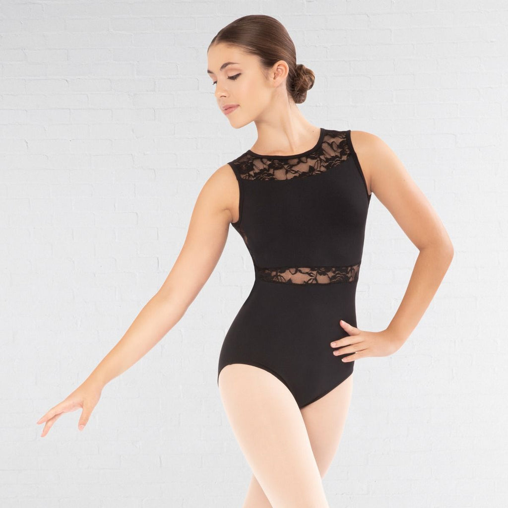 Revolution Black Lace Inset Leotard