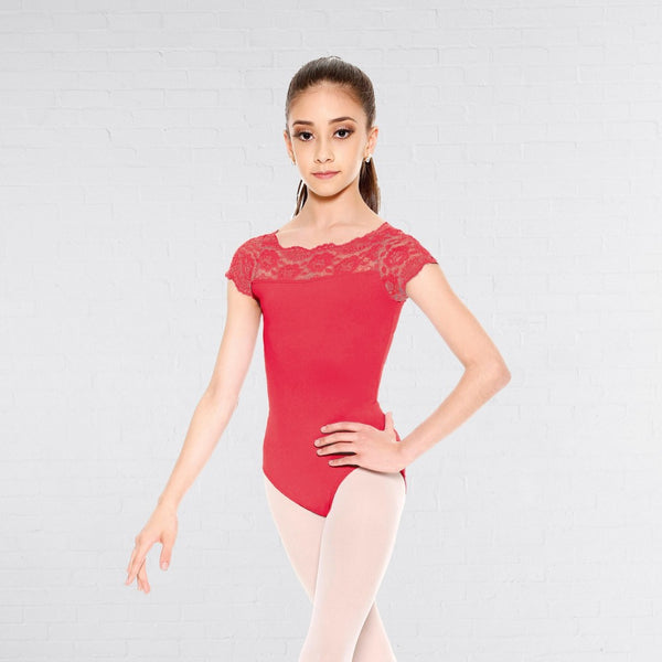 So Danca E-11134 Child Laced Top Dance Leotard - Dazzle Dancewear Ltd