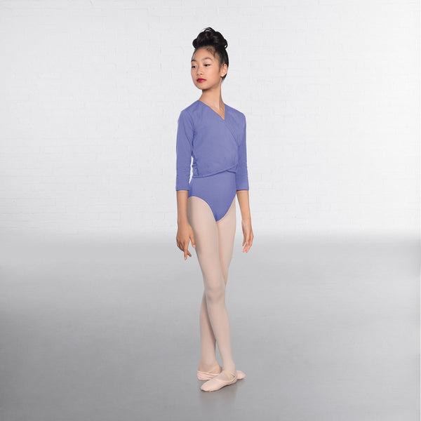 1st Position Sky Blue X Over Cardigan 3/4 sleeves  - Dazzle Dancewear Ltd
