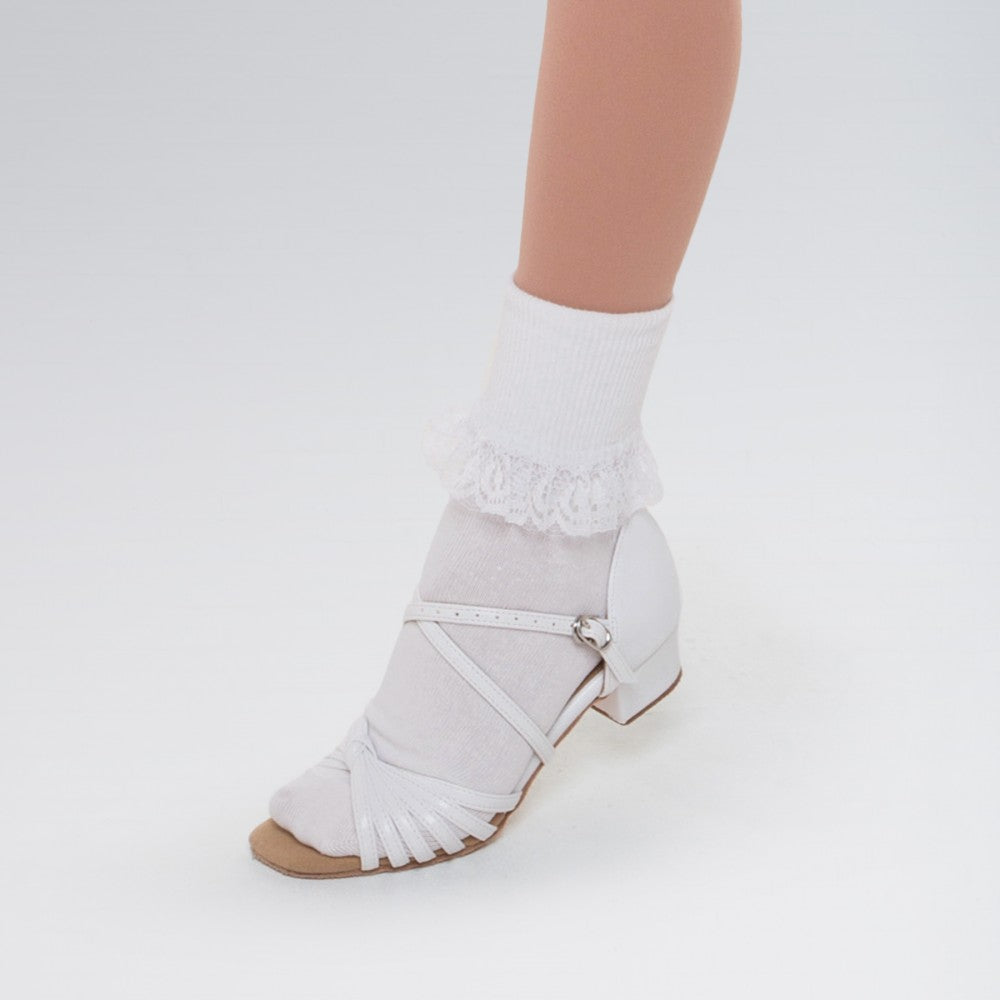 Lace Trimmed Ballroom Ankle Socks - Dazzle Dancewear Ltd