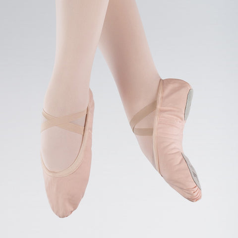 1st Position Pink Canvas Split Sole Ballet Shoes - Dazzle Dancewear Ltd