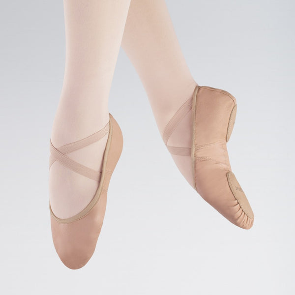 1st Position Stretch Leather Split Sole Ballet Shoes