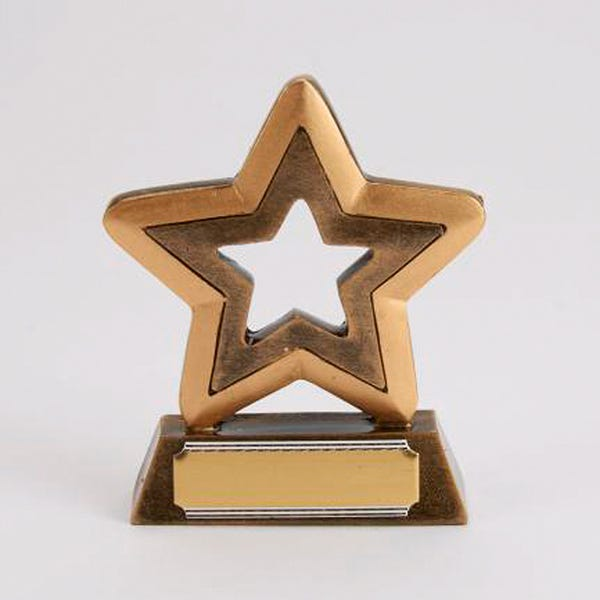 Star Outline Resin Trophy-Dazzle Dancewear Ltd