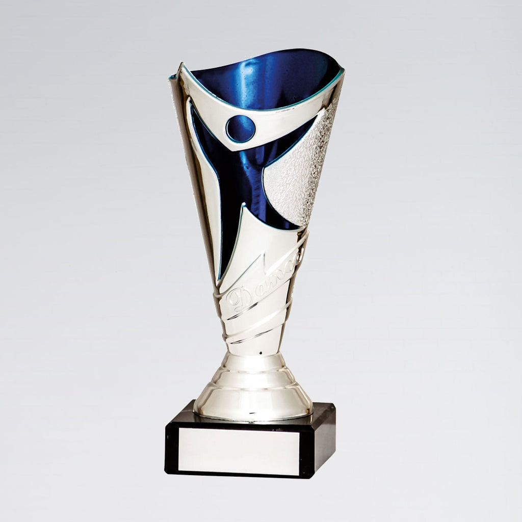 Silver and Blue Dance Trophy-Dazzle Dancewear Ltd
