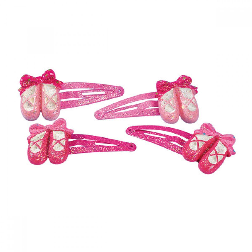 Katz Ballet Shoe Hair Snaps Pack of 4 - Dazzle Dancewear Ltd