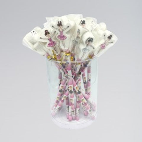 Ballerina Pencil With Eraser Topper - Dazzle Dancewear Ltd