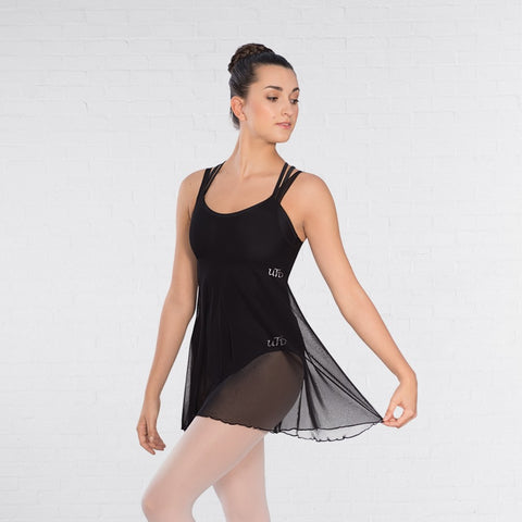 United Teachers of Dance UTD Black Mesh Dress - Dazzle Dancewear Ltd